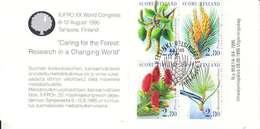 IUFRO XX WORLD CONGRESS 6-12 AOUT 1995 - CARNET OBL AVEC NUM 1305-1308