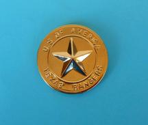 TEXAS RANGERS - U.S. OF AMERICA Old Rare Pin Badge * Large Size * Police Gendarmerie Gendarmeria Policia Polizei Polizia - Police