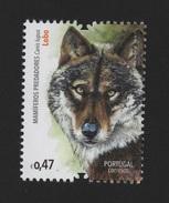 Stamp 2016 PORTUGAL FAUNA MAMMALIAN PREDATORS WOLF WOLFS CANIS LUPUS WILD LIFE ANIMALS FAUNA FAUNE LOBO LOBOS - Timbres
