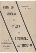 Petit Calendrier Publicitaire/ Comptoir Général De Piéces De Rechanges Automobiles/STRASBOURG//1924               CAL353 - Calendriers