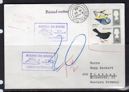 Invalid UK Stamps As Posted In Gibraltar M.S. Mons Calpe  Tangier 1966 (9) - Gibilterra