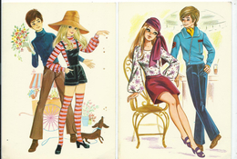 Couples 2 Scenes.fashion, Vogue, Style.design.dog.Printed In Minerva Subotica Yugoslavia. - Couples