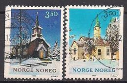 Norwegen  (1993)  Mi.Nr.  1141 + 1142  Gest. / Used  (3ff15) - Gebraucht