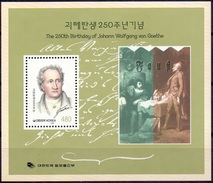 Zuid Korea 1999 BL 250th Birthday Of Wolfgang Goethe PF-MNH - Corea Del Sud