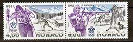 Monaco 1621 1622   1/4 De Cote Calgary JO 1988 Du Bf 40 Neuf ** TB  MNH Sin Charnela Cote 17.5
