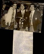 PHOTO - Photo De Presse - BERNARD BOSQUER - FOOTBALL - Aéroport D'Orly - 1971 - Cyclisme