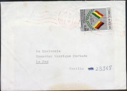 Bolivia 1988 CEFIBOL 1273. Visita Pres. Alemania. Cochabamba - La Paz. See Desc. - Bolivie
