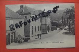 Cp  St Jean D'herans Place De La Mairie Animé - Sonstige Gemeinden