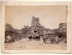 Pnpm Penh Cambodge Photo Originale :ruines Khmer (avec Attelages) (PPP4704) - Places