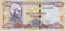 BILLETE DE JAMAICA DE 500 DOLLARS DEL AÑO 2015  (BANKNOTE) - Jamaica