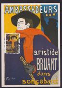 Aristide Bruant Dans Son Cabaret - CARTE MAXIMUM - BELGIQUE - Toulouse Lautrec - 2011 - Impressionisme