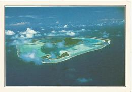 V856 Polinesia Francese - Maupiti - L'Isola Vista Dall'aereo - Cartolina Con Legenda Descrittiva - Océanie