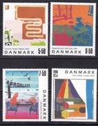 2005, Dänemark, 1408/11, Zeitgenössische Kunst.  MNH **, - Unused Stamps