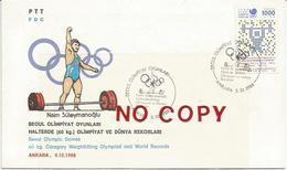 Giochi Olimpici Di Seoul, Turchia, Ankara, 5.10.1988, Naim Suleymanoglu, Oro Olimpico E Record Mondiale. - Pesistica