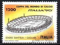 R1656 - ITALIA - 1990 - Usato - 1200 Lire Coppa Rimet Di Calcio - Stadio Cagliari - 6. 1946-.. Repubblica
