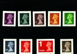 GREAT BRITAIN - 2013  MACHIN  SET  MINT NH - 1952-.... (Elisabetta II)