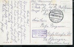 GERMANY WWI FELDPOST FROM AUDENARDE BELGIUM 1915 REKRUTEN DEPOT - Allemagne