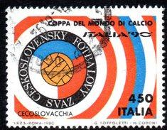 R1661 - ITALIA - 1990 - Usato - 450 Lire Coppa Rimet Di Calcio - Cecoslovacchia - 6. 1946-.. Repubblica
