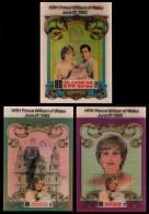 ~~~ North Korea 1982 - Diana And Charles Birth Of William  3D Hologram Set - Mi. Block 130/132 ** MNH  CV 51.00 Euro ~~~ - Korea (Noord)
