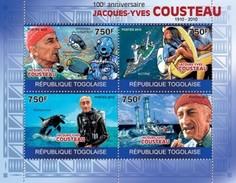 TOGO 2010 - J-Y Cousteau, Diving - YT 2140-3; CV = 17 €