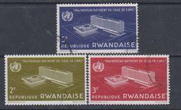 Rwanda N° 158 / 60 O Inauguration Du Siège De L'O.M.S. à Genève, Les 3  Valeurs Oblitérations Légères Sinon TB - Rwanda