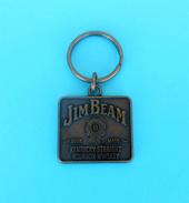 JIM BEAM - Kentucky Straight Bourbon Whiskey Nice Rare Metal Keychain Porte-clés Schlüsselring Anello Portachiavi Whisky - Alcohols