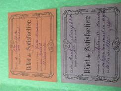 Billets De Satisfaction/Ecole De NEAUPHLETTE/S Et O/Directrice Melle Renard/Yvette Et Antoinette Moisson/1932     CAH156 - Diplomi E Pagelle