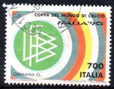 R1679 - ITALIA - 1990 - Usato - 700 Lire Coppa Rimet Di Calcio - Italia - 6. 1946-.. Repubblica