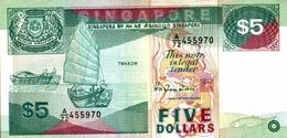 SINGAPORE  5 DOLLARDS - Singapour