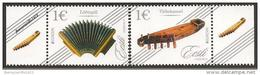 """ESTONIA/ ESTLAND/ ESTONIE- EUROPA 2014-- TEMA"""" INSTRUMENTOS MUSICALES NACIONALES""""-SERIE 2 V. - Europa-CEPT"""