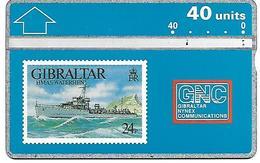 @+ Gibraltar - Navire De Guerre HMAS Waterhen - 40U (LG 306A) - Ref : GIB-24 - Gibraltar