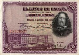 EL BANCO DE ESPANA  CINCUENTA PESETAS - [ 1] …-1931 : Primeros Billetes (Banco De España)