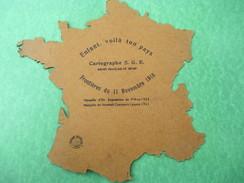 Carte De La France/Scolaire/Cartographe SGE/Enfant, Voilà Ton Pays /Frontières Du 11 Nov 1918/1923     CAH161 - Diplomi E Pagelle