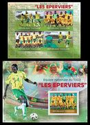 TOGO 2010 - Togo Football Team - YT 2164-7 + BF394; CV = 34 € - Fútbol