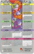 Singapore - Calendar '96, 68SIGA, 1996, 300.000ex, Used