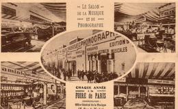 Paris.. Le Salon De La Musique Et Du Phonographe Belle Multi-vues Rue De Madrid Foire De Paris - Francia