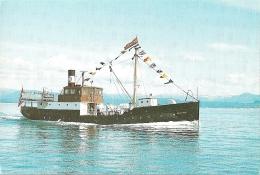 Bateau - [MS Granvin] Eigar : Veteranskipslaget Fjorabåten [cargo Mixte / Mixed Cargo / Fracht-und Fahrgastschiff] - Dampfer