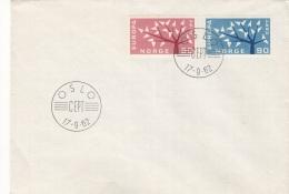 NORWEGEN - 2 Fach Europa Frankierung Auf Brief, Stempel Oslo CEPT 1962 - Norwegen