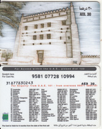U.A.E. - Fort, Etisalat Prepaid Card Dhs 30(reverse 2c), Used