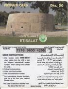 U.A.E. - Fort, Etisalat Prepaid Card Dhs 50(reverse 1b), Used