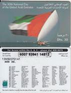 U.A.E. - Flag, Etisalat Prepaid Card Dhs 30(reverse 2), Used
