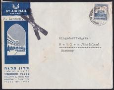 HOTEL PALGA - Israel Palestine Tel Aviv 1936 British Mandate Post To Germany - Palestina