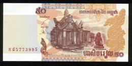 Kambodscha 2002, 50 Riels - UNC, Kassenfrisch - Cambodia
