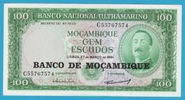 MOZAMBIQUE 100 Escudos 27.03.1961 (1976)  Serie C55767574  Aires De Ornelas P# 117 - Mozambique