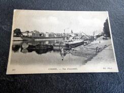 """CPA Animée - CORBEIL (91) - Vue D'ensemble - Tampon """"Commission Militaire De Gare"""" - Corbeil Essonnes"""