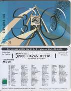 U.A.E. - The Emirates, Etisalat Prepaid Card Dhs 30(reverse 3), Used