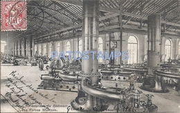 71089 SWITZERLAND GENEVE INTERIOR OF THE BUILDING OF THE MOTIVATION FORCES CIRCULATED TO ARGENTINA POSTAL POSTCARD - Suisse