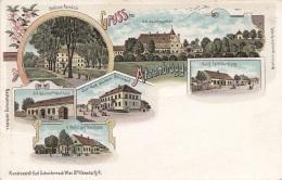 Litho Gruss Aus ATZENBRUGG (NÖ) - Verlag Schwidernoch Wien II, Karte Um 1899, Auf Rückseite Klebespuren S.Scan - Autriche