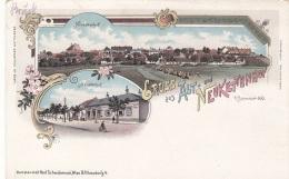 Litho Gruss Aus ALT- Und NEUKETTENHOF Bei Schwechat (NÖ) - Verlag Schwidernoch Wien II, Karte Um 1899, Auf Rückseite ... - Autriche