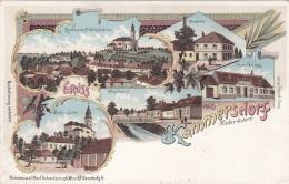 Litho Gruss Aus KAMMERSDORF (NÖ) - Verlag Schwidernoch Wien II, Karte Um 1899, Auf Rückseite Klebespuren S.Scan - Otros